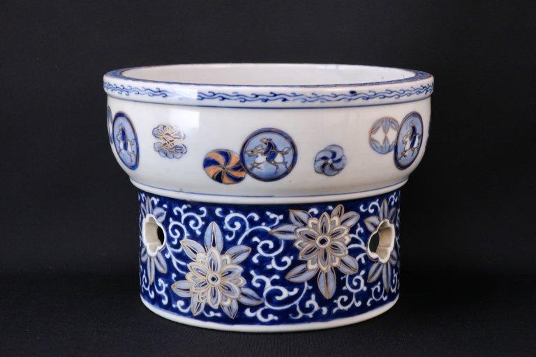 伊万里ベロ藍色絵盃洗 / Imari Polychrome 'Haisen' Sake Cup Washing Bowl