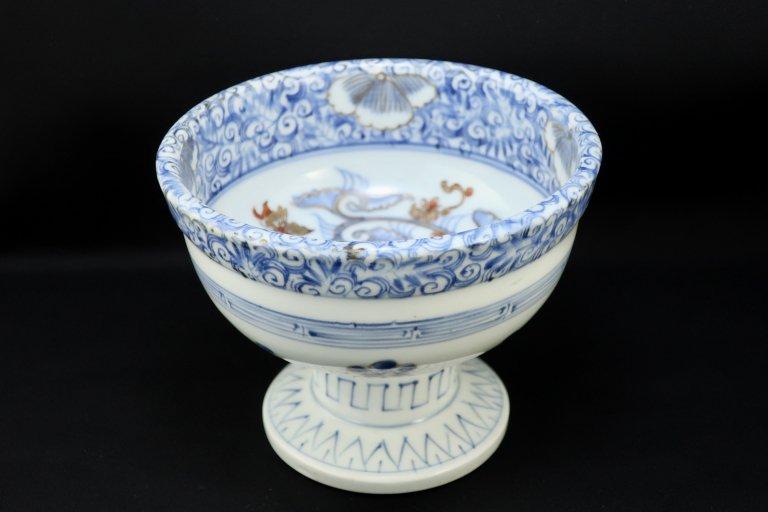 伊万里線描色絵盃洗 / Imari Polychrome ' Haisen' Sake Cup Washing Bowl