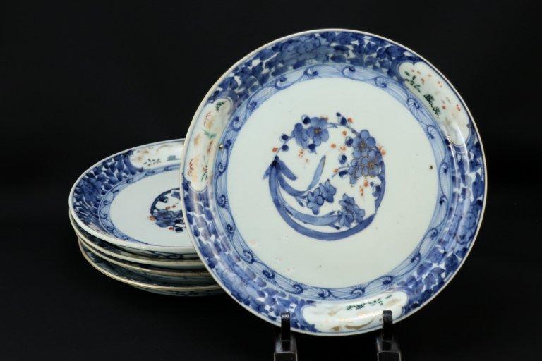 伊万里色絵牡丹唐草文七寸皿 五枚組 / Imari Polychrome Plates  set of 5