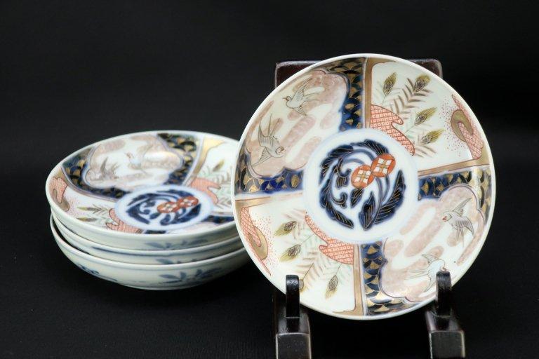 伊万里色絵四寸皿 四枚組 / Imari Small Polychrome Plates  set of 4