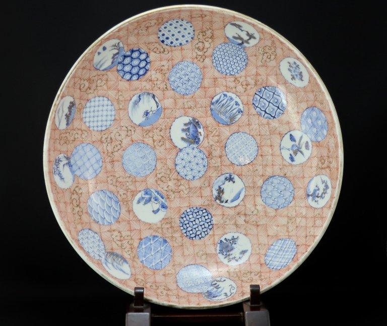 伊万里色絵丸文大皿 / Imari Large Polychrome Plate with the pattern of Circles