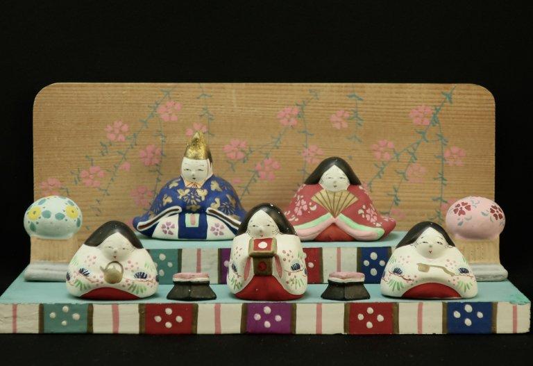 土人形 雛人形セット / Clay dolls of 'Hina'
