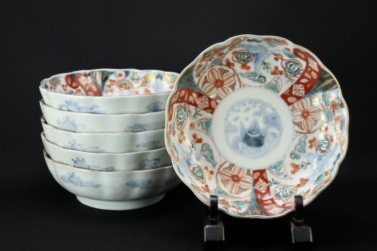 伊万里色絵韃靼人の図なます皿 六枚組 / Imari Polychrome 'Namasu' Bowls  set of 6