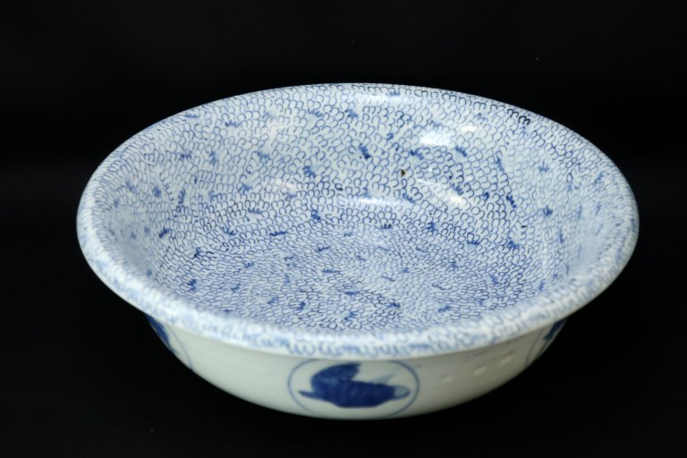 伊万里染付微塵唐草文大鉢 / Imari Bleu & White Bowl with the pattern of 'Mijinkarakusa'