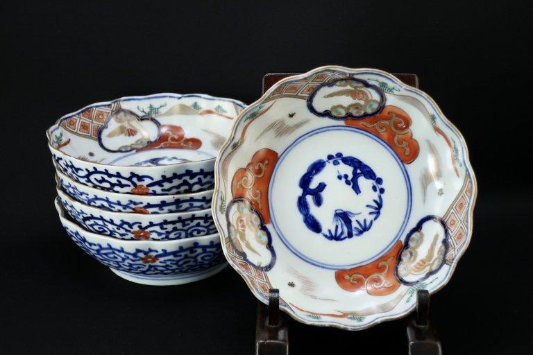 伊万里色絵なます皿 五枚組 / Imari Polychrome 'Namasu' Bowls  set of 5