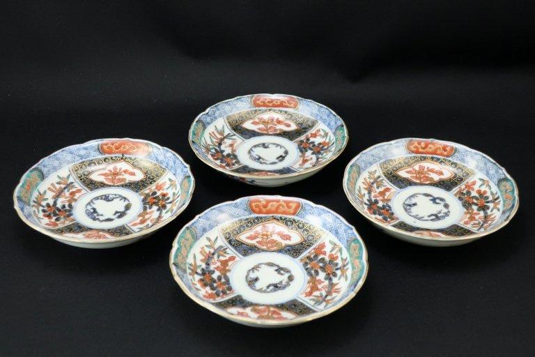 伊万里色絵小皿 四枚組 / Imari Small Polychrome Plates  set of 4