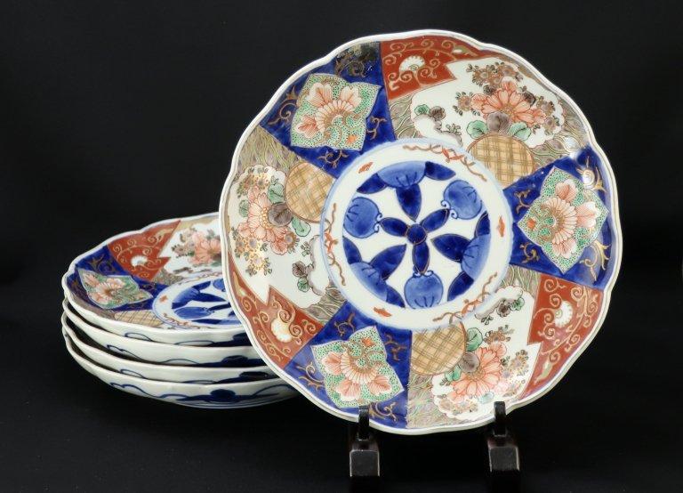 伊万里色絵八寸皿 五枚組 / Imari Polychrome Plates  set of 5