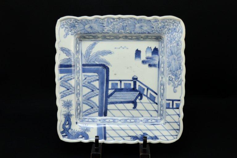 伊万里染付角大皿 / Imari Large Square Blue & White Plate