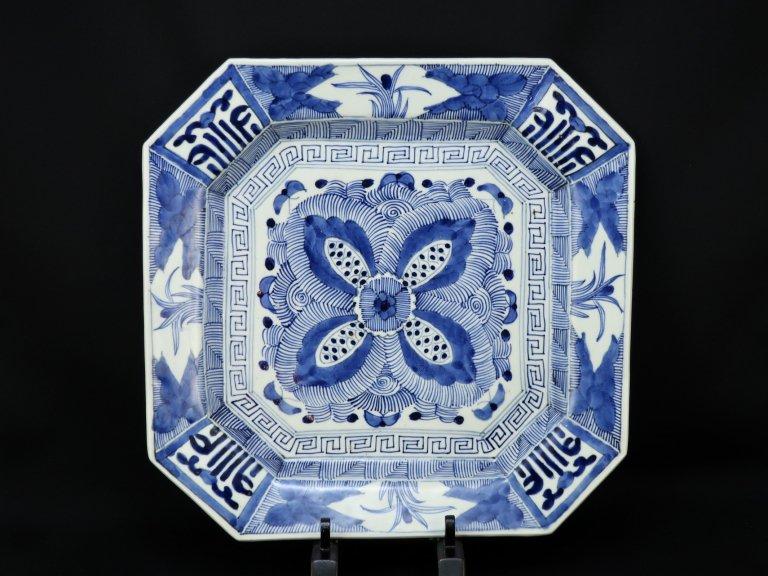 伊万里染付隅切大角皿 / Imari Large Square Plate