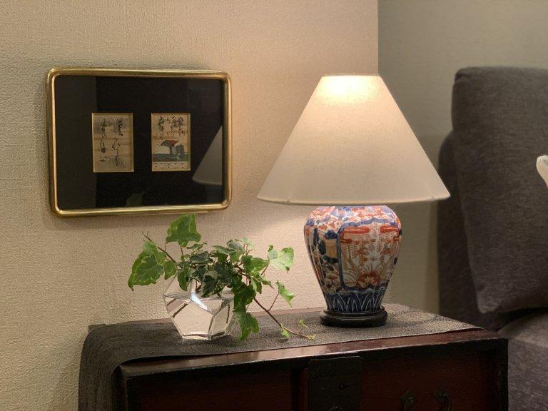 伊万里色絵壺テーブルランプ Table Lamp of Imari Polychrome Pot
