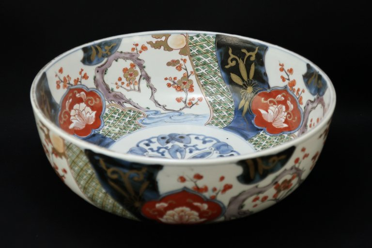 伊万里色絵松竹梅文大鉢 / Imari Large Polychrome Bowl with the picture of Pine, Bamboo, and Plum Flowers