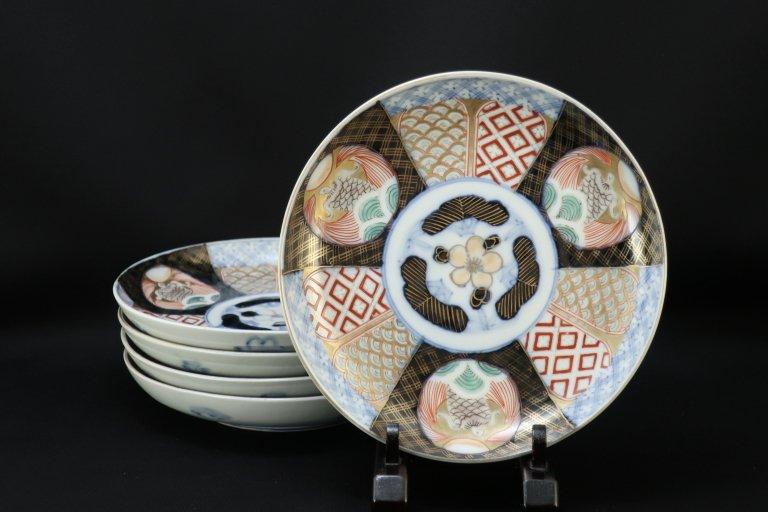 伊万里色絵六寸皿 五枚組 / Imri Polychrome Plates  set of 5