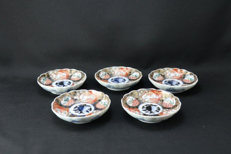 伊万里色絵小皿 五枚組 / Imari Small Polychrome Plates  set of 5