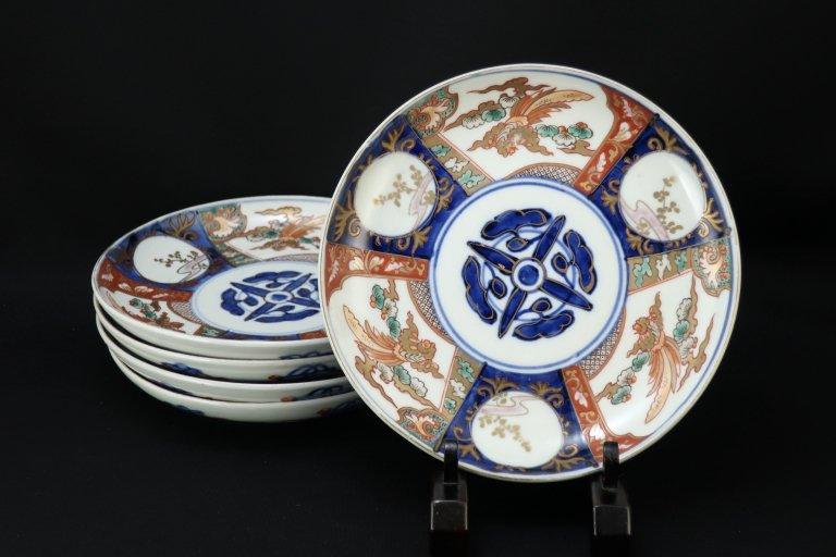 伊万里色絵鳳凰文六寸皿 五枚組 / Imari Polychrome Plates  with the picture of Phoenixes  set of 5