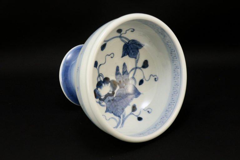 伊万里染付朝顔文盃洗 / Imari Blue & White 'Haisen' Sake cup Washing Bowl