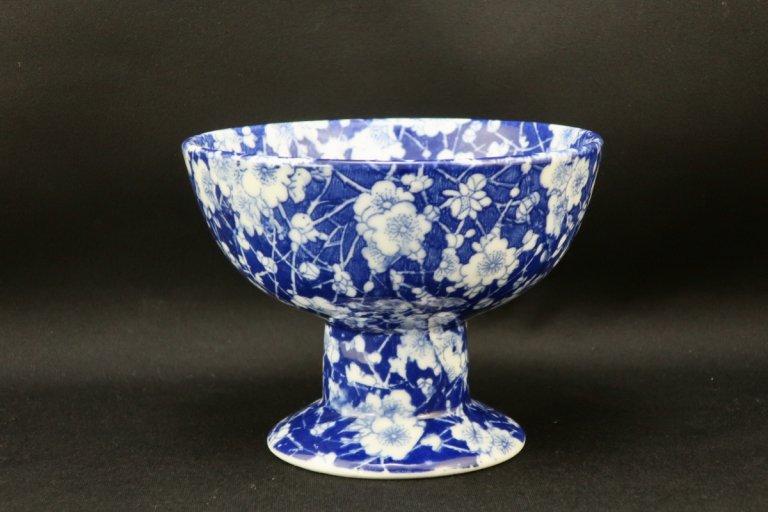 瀬戸印判染付梅花文盃洗 / Seto Inban Blue & White 'Haisen' Sake cup Washing Bowl