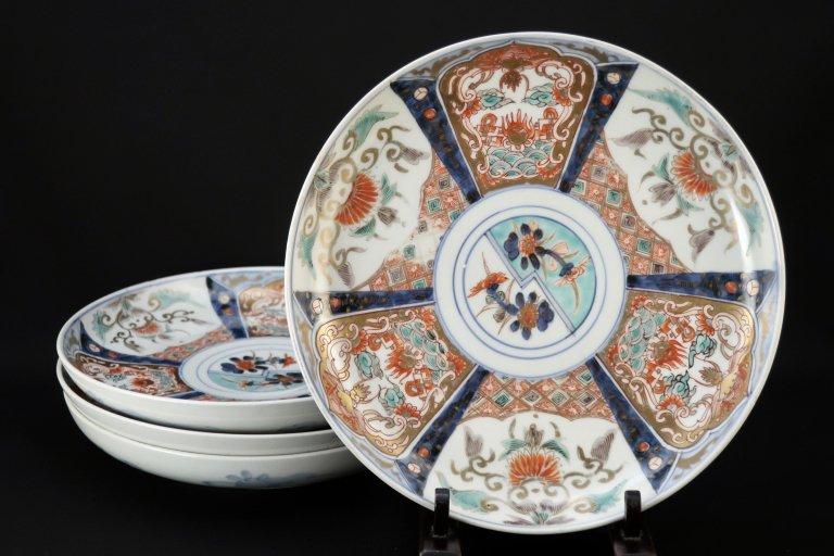 伊万里色絵菊花文七寸皿 四枚組 / Imari Polychrome Plates  set of 4