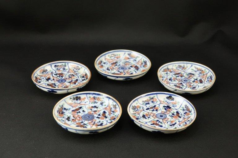 伊万里色絵捻文小皿 五枚組 / Imari Small Polychrome Plates  set of 5