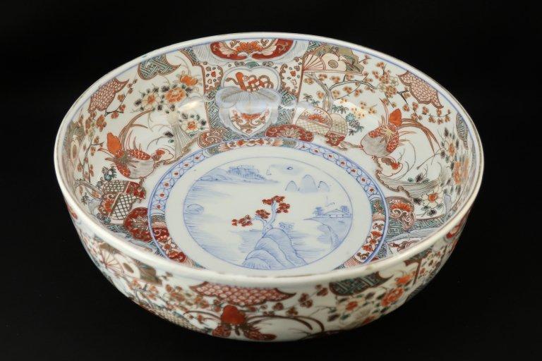 伊万里色絵花鳥文大鉢 / Imari Large Polychrome Bowl with the picture of Flowers and Birds