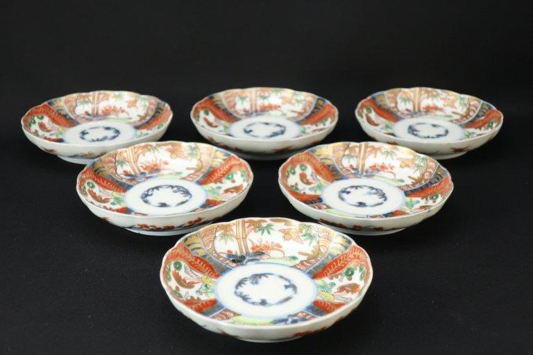 伊万里色絵花鳥文小皿 六枚組 / Imari Small Polychrome Plates  set of 6