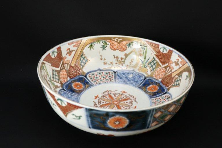伊万里色絵折鶴松竹梅文大鉢 / Imari Large Polychrome Bowl