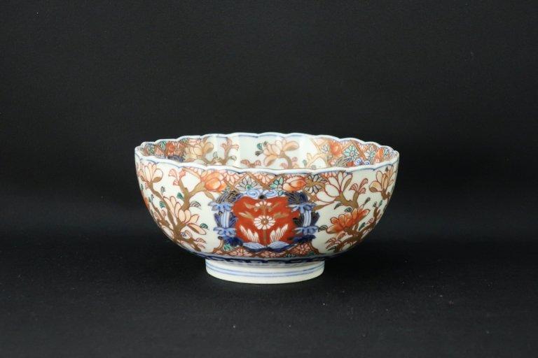 伊万里菊花形中鉢(小) / Imari Polychrome Chrisanthemum-flower-shaped Bowl