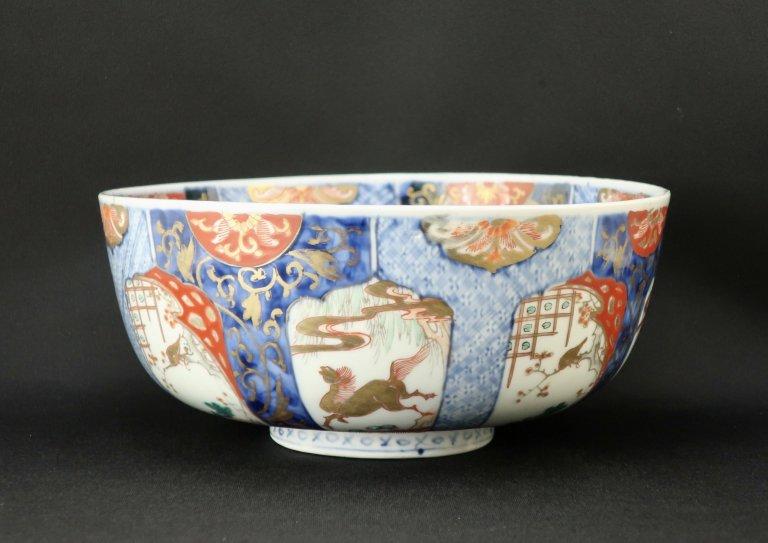 伊万里色絵馬に桜梅に鶯大鉢 / Imari Large Polychrome Bowl