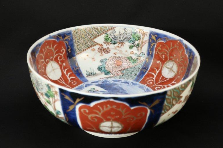 伊万里色絵梅菊花文大鉢 / Imari Large Polychrome Bowl