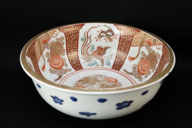 伊万里金彩赤絵花鳥文大鉢 / Imari Large Polychrome Bowl