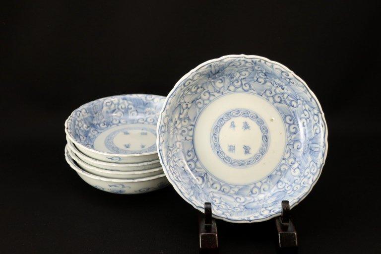 伊万里線描染付なます皿 五枚組 / Imari Blue & White 'Namasu' Bowls  set of 5