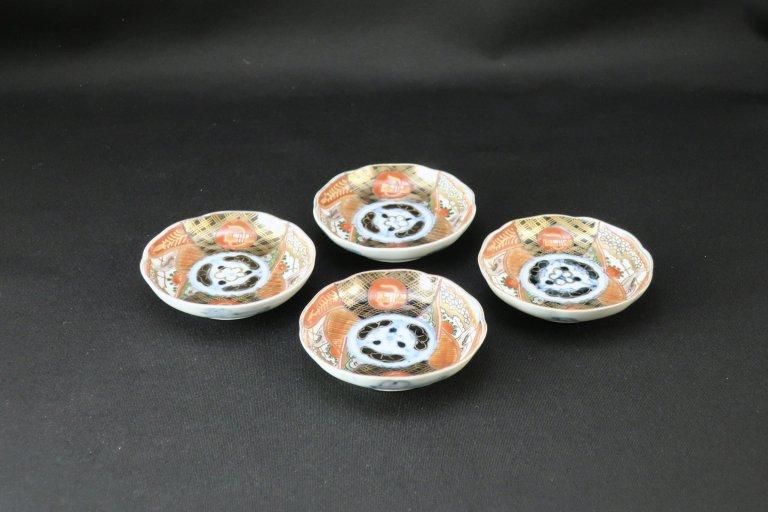 伊万里色絵豆皿 四枚組 / Imari Small Polychrome Plates  set of 4