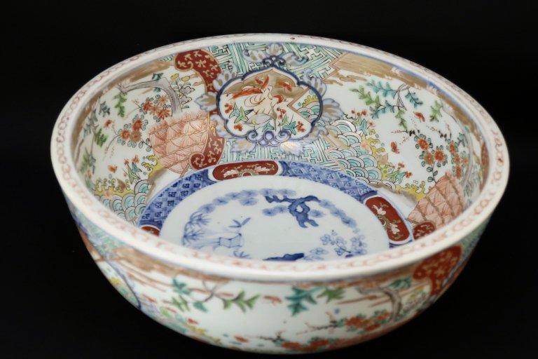 伊万里色絵花鳥文大鉢 (L) / Imari Large Polychrome Bowl with the picture of Flowers and Birds(L)
