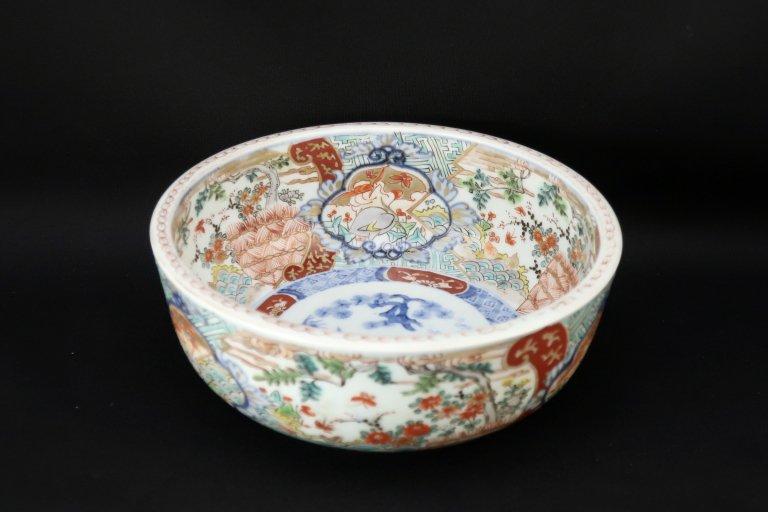伊万里色絵花鳥文中鉢 (S)/ Imari Polychrome Bowl with the picture of Flowers and Birds(S)