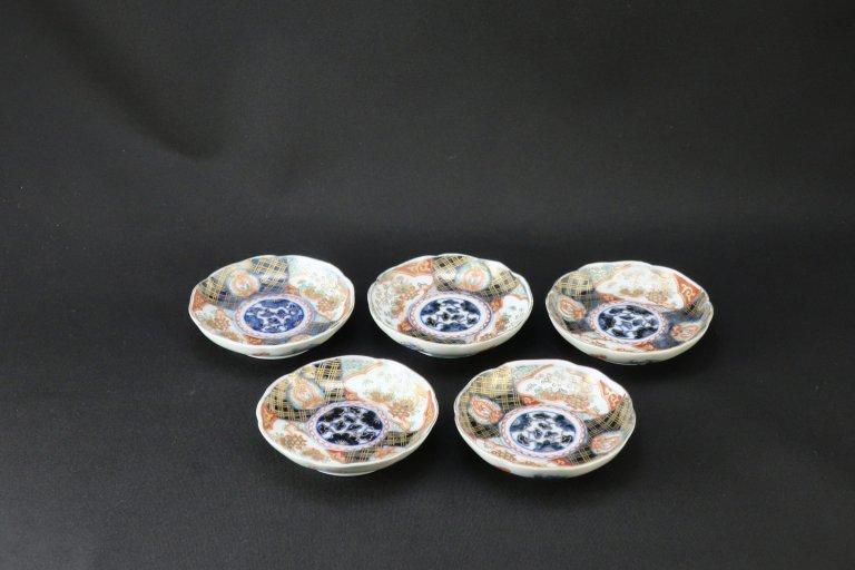 伊万里色絵豆皿 五枚組 / Imari Small Polychrome Plates  set of 5