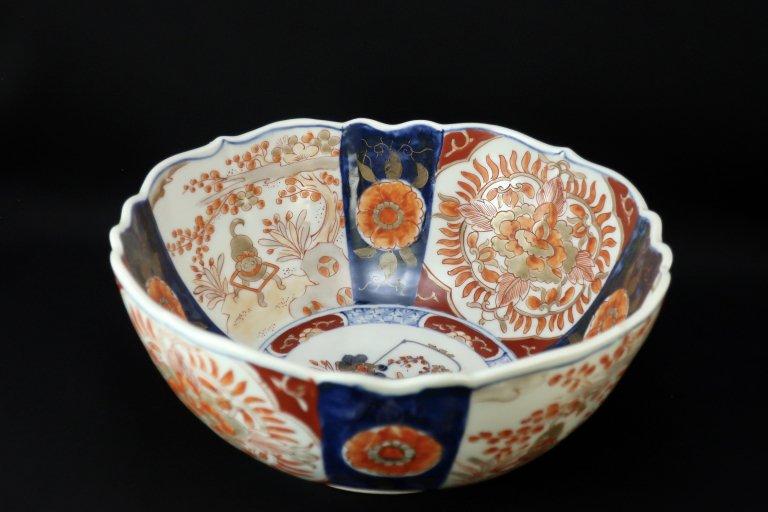 伊万里色絵花籠手大鉢 / Imari Large Polychrome Bowl with the picture of Flower Basket