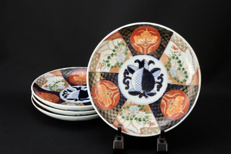 伊万里色絵六寸皿 四枚組 / Imari Polychrome Plates  set of 4