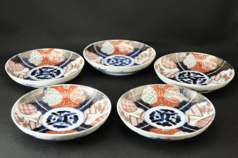 伊万里色絵五寸皿 五枚組 / Imari Polychrome Plates  set of 5
