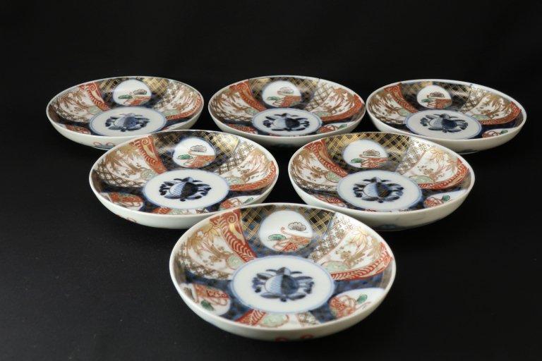 伊万里色絵松竹梅文五寸皿 六枚組 / Imari Poychrome Plates  set of 6