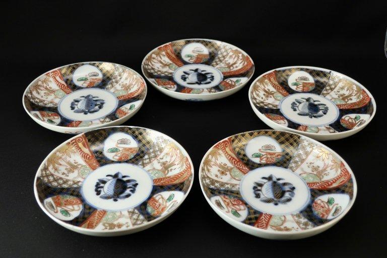 伊万里色絵松竹梅文五寸皿 五枚組 / Imari Poychrome Plates  set of 5