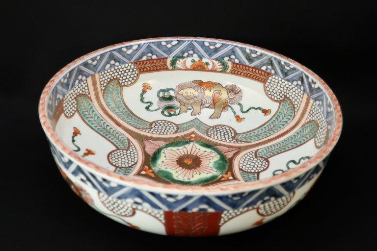 伊万里色絵獅子文大鉢 (L)/ Imari Large Polychrome Bowl with the picture of Lions (L)