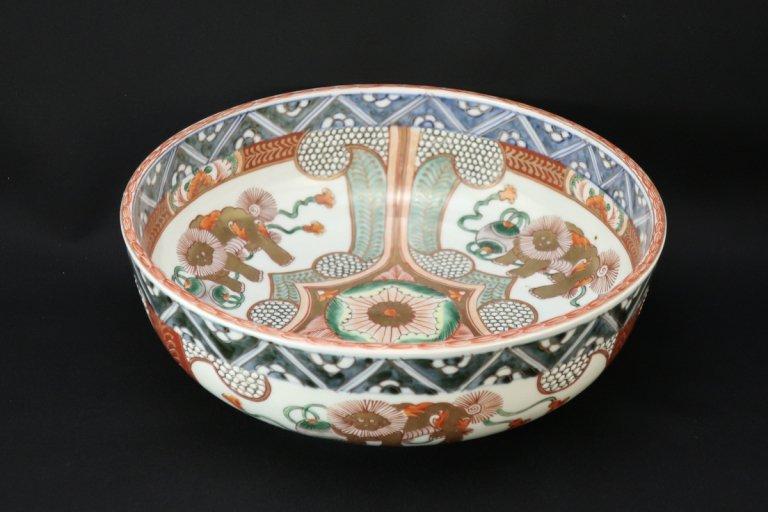 伊万里色絵獅子文大鉢 (M)/ Imari Large Polychrome Bowl with the picture of Lions (M)