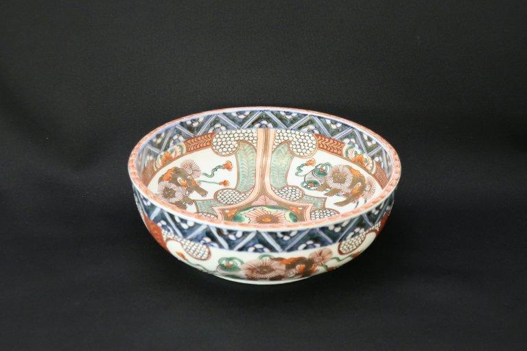 伊万里色絵獅子文大鉢 (S)/ Imari Large Polychrome Bowl with the picture of Lions (S)