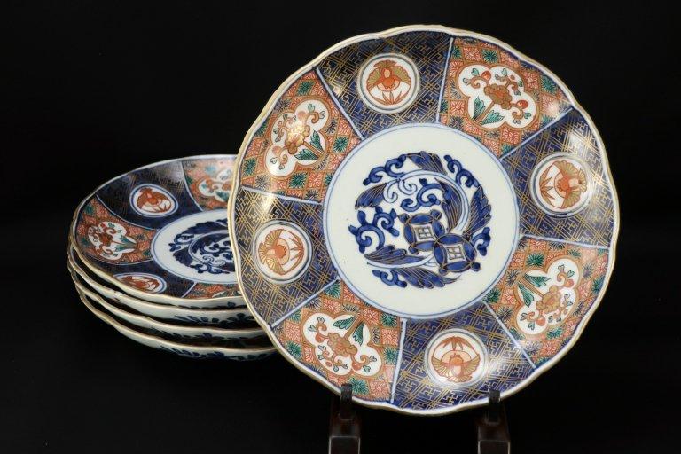 伊万里色絵七寸皿 五枚組 / Imari Polychrome Plates  set of 5