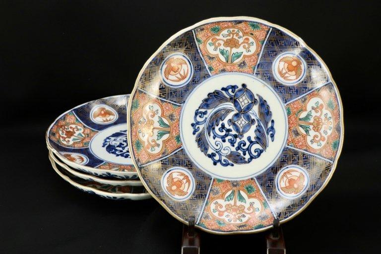 伊万里色絵七寸皿 四枚組 / Imari Polychrome Plates  set of 4