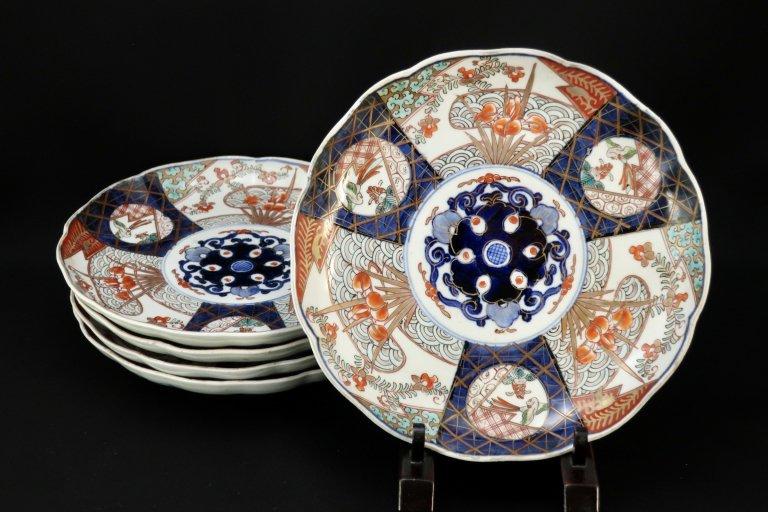 伊万里色絵花鳥文七寸皿 五枚組 / Imari Polychrome Plates  set of 5