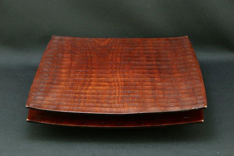 讃岐彫角皿 二枚組 / Sanuki-lacquered Square Plates  set of 2