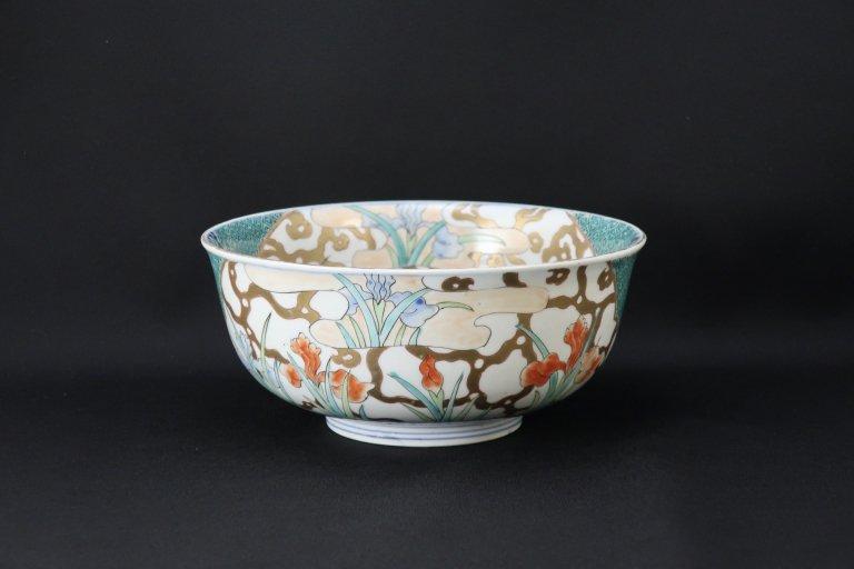 伊万里色絵菖蒲文中鉢 / Imari Polychrome Bowl with the picture of Iris