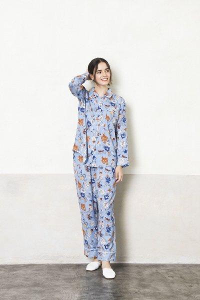 シルクタッチサテンフラワーパジャマ(トップス)
