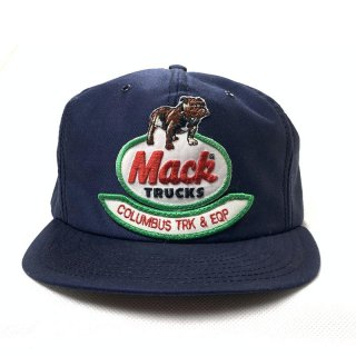 NOS 80's Mack Truck マックトラック トラッカーキャップ アメリカ製 ネイビー