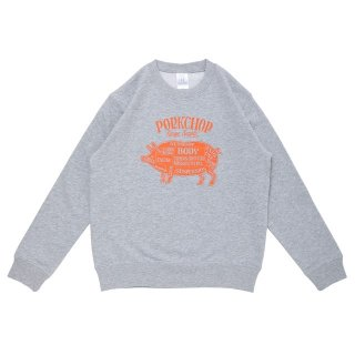 <img class='new_mark_img1' src='https://img.shop-pro.jp/img/new/icons24.gif' style='border:none;display:inline;margin:0px;padding:0px;width:auto;' />PORKCHOP GARAGE SUPPLY  PORK FRONT SWEAT for Kids P-20 GRAY